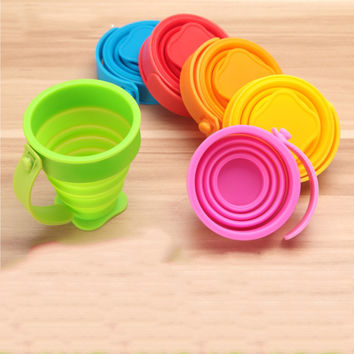 Silicone Collapsible Cup Folding Cup Portable Telescopic Drinking Camping Retractable Outdoor Travel Cup