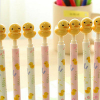 Korean Kawaii Cartoon Animal Ball Point Pen Kids Children Gift Stationery LS S1