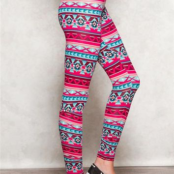 Peached Aztec Leggings
