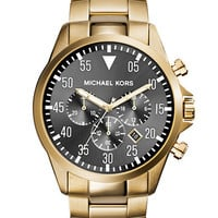 Michael Kors Gage Gold Tone Chronograph Watch