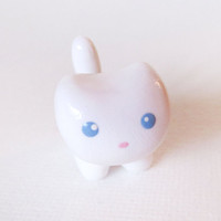 White Cat Polymer Clay Charm by MadAristocrat on Etsy