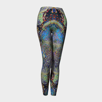 A New World, Compression fit performance Leggings, XS,S,M,L,XL Hot Yoga Pants, Activewear,  Made in Canada