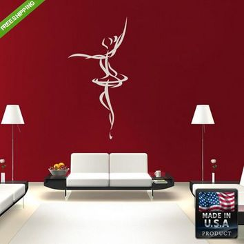 Wall Decals Art Decal Decal Sticker Beautiful Dancing Girl Bedroom  z184