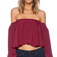 FAITHFULL THE BRAND Riot Top in Cranberry
