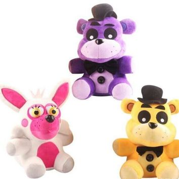 Kawaii Bear Fox Doll 18/25cm  At  4  Freddy Fazbear Bear Plush Toys Doll  At Freddy Figure Toy