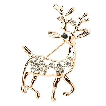 Ginasy Fashion Brooch Lapel Pin Shawl Clip Corsage in Crystal Rhinestone Alloy Jewelry Gift For Women Men