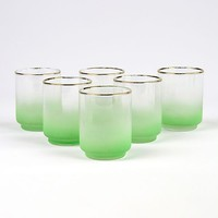 Patina Vie Vintage Mint Cocktail Glasses, Set of 6