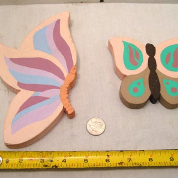 Butterfly, Wall, Decoration, Wooden, Wood, Purple, Art, Boho, Shabby, Hippie, Cottage, Hanging, Whimsical, Pink, Rainbow, Butterflies, Decor