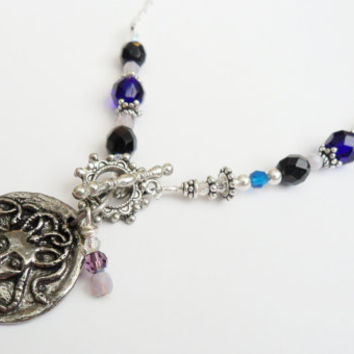 Medusa Pendant Necklace Made w/ Sterling Silver and by ciaralg