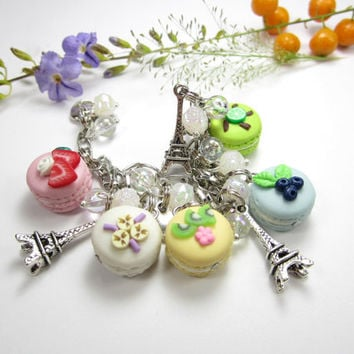 Fruit French Macaron Bracelet - Food Jewelry