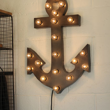 Lighted Marquee Sign - Anchor with Lights