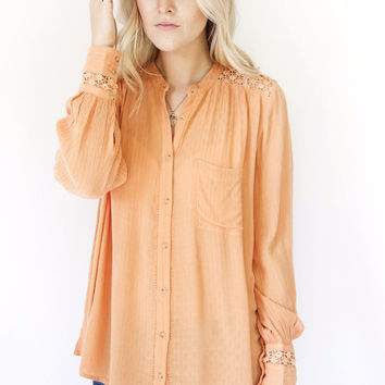 Free People The Best Blouse Peach OB495809