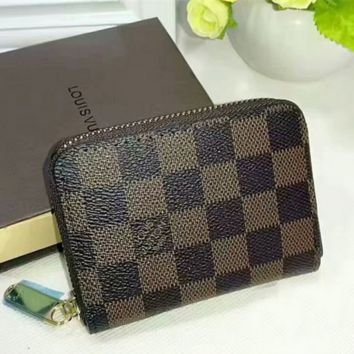 LV Louis Vuitton Fashion Clutch Bag Wristlet Wallet Purse