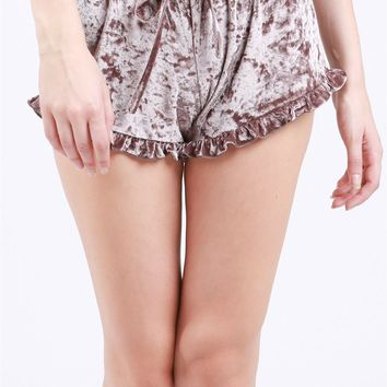 RaeAnn Crushed Velvet Shorts
