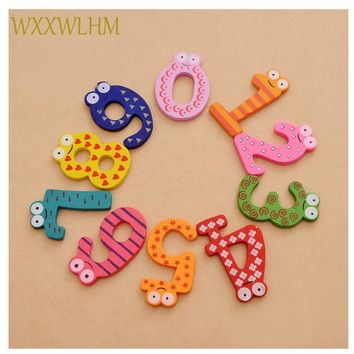 A set digital English wood paste animal cotton baby wooden toys early childhood education toys Birthday party gift