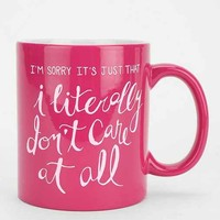 Literally Don't Care Mug- Assorted One