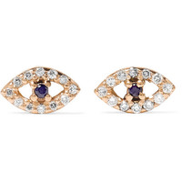 Ileana Makri - 18-karat rose gold, diamond and sapphire earrings