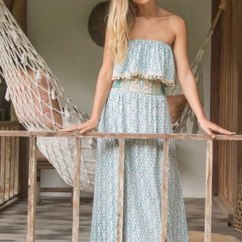 Borneo Long Ruffle Dress