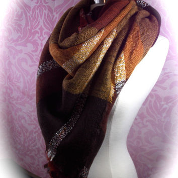 super soft blanket scarf/cozy scarf/fall color scarf