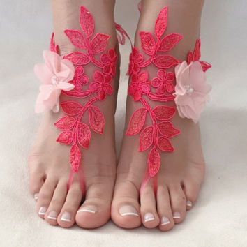 6bb4a7eddd2a Shop Coral Barefoot Sandals on Wanelo