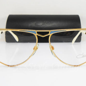 Cazal 227, New Old Stock, W.Germany, V.Rare, 1970s, Vintage, Gold, Aviator, Sunglasses, Eyeglases, Frames