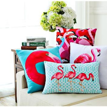 vintage decorative throw pillows living room couch pillows seat floor pink flamingo chair cushions outdoor seat pillow for sofa