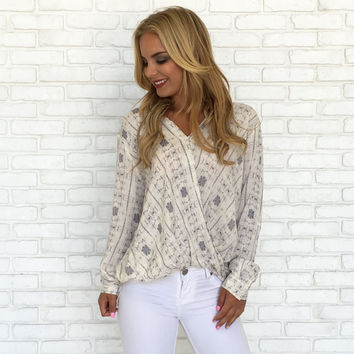 Shock Wave Wrap Blouse