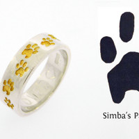 4 Paws Forever: Custom Journey Ring Recessed Paws