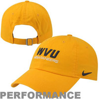 Nike West Virginia Mountaineers Dri-FIT Heritage 86 Campus Adjustable Performance Hat - Gold