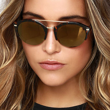 Radical Babe Tortoise Mirrored Sunglasses
