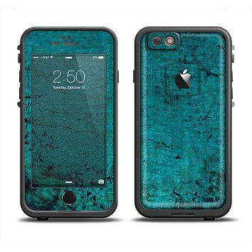The Grungy Teal Surface Apple iPhone 6 LifeProof Fre Case Skin Set