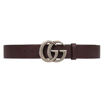 GUCCI - Leather Belt for Men DOUBLE G (397660AP00N2145)
