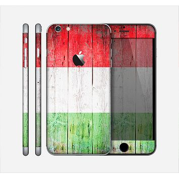 The Green, White and Red Flag Wood Skin for the Apple iPhone 6 Plus