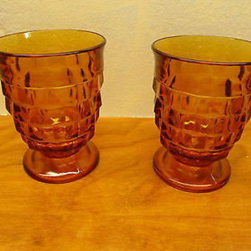 VINTAGE FOSTORIA WHITEHALL ROCK TUMBLES SET OF TWO