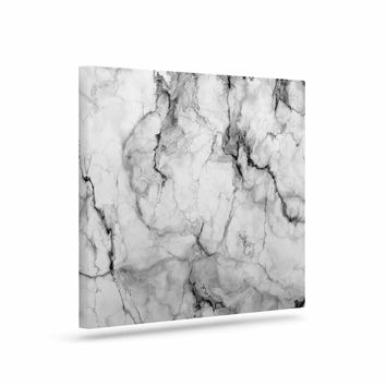 "Chelsea Victoria ""Marble No 2 "" Black Modern Canvas Art"