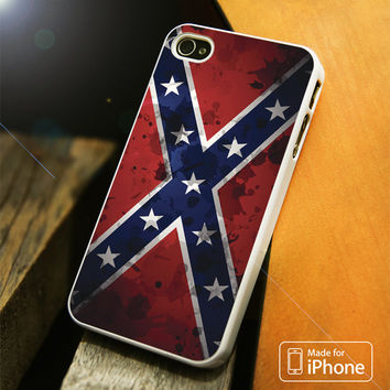 Confederate Rebel Flag Grunge iPhone 4(S),5(S),5C,SE,6(S),6(S) Plus Case