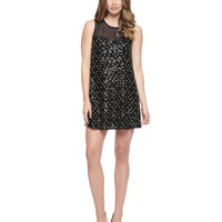 Pitch Black Diamond Beaded Tulle Dress by Juicy Couture,