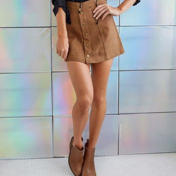 Fashion Sexy Womens  Suede Leather Package Hip mini Dress Skirt