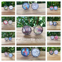 Comic Book Silver Cufflinks (Made to Order) - Groom's Corner - Wedding Cufflinks - Everyday Cufflinks