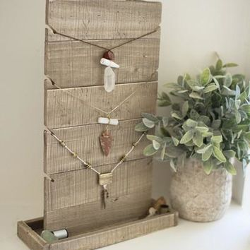 Wooden Jewelry Holder With Tray