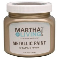 Martha Stewart Living 10-oz. Vintage Gold Satin Metallic Paint-259285 at The Home Depot