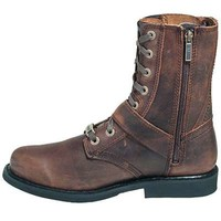 Harley Davidson Boots: Men's Brown 9-Inch Ranger Double-Buckle Motorcycle Boots 95265