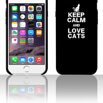 KEEP CALM LOVE CATS 5 5s 6 6plus phone cases