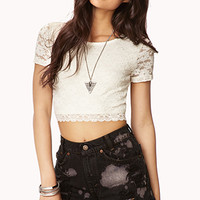 Dainty Lace Crop Top