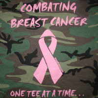 Combating Breast Cancer  Tee Shirt - Camo  Size: Small