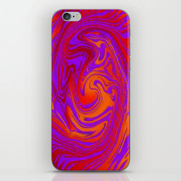 Complicated down face orig iPhone & iPod Skin by Lilbudscorner