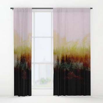 Burn in Forest Window Curtains by creativeaxle