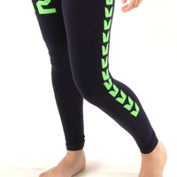 Seahawks Lady Navy Leggings