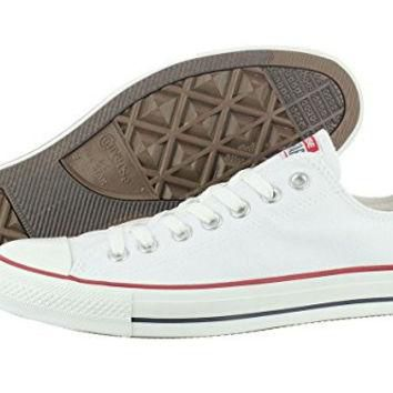 Converse Unisex Chuck Taylor All Star Low Top Optical White Sneakers - 6.5 B(M) US Wom