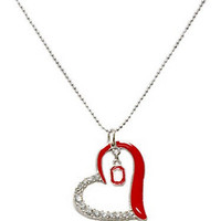 Ohio State Buckeyes Crystal Heart Necklace